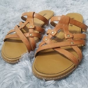 Timberland | Genuine leather camel sandals size 8
